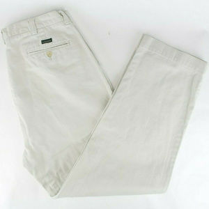 Ralph Lauren Mens Flat Front Cotton Casual Chinos